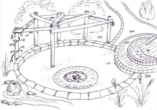 skizzen und pläne, Garten Ideen
